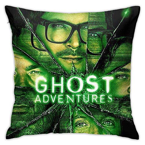 Ssxvjaioervrf Ghost Adventures Pillow Covers Cushion Covers Soft Pillow Protectors for Living Room Bed Home Bench Sofa 45cm x 45cm