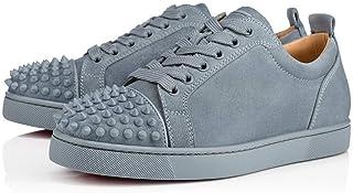 c3de3564a30 Christian Louboutin Louis Junior Spikes Veau Velours Squale Sneakers Size  10 New Blue