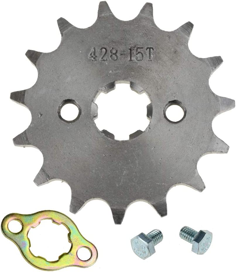 Free shipping New HIAORS 428 15T 17mm Motorcycle Front Quality inspection Sprocket 70 Engine 50cc for