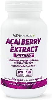 Acai Berry de HSN | 500mg | Extracto 10:1, Baya Acai | Potente Antioxidante Natural, Vegano, Sin Gluten, Sin Lactosa, 120 Cápsulas Vegetales