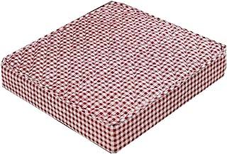ping bu Cojín para silla de oficina o silla de oficina, almohadilla gruesa para respaldo para coche, interior, exterior, jardín, cojín elevador antideslizante (rojo, 50 x 50 x 8 cm)
