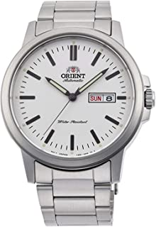 Orient RA-AA0C03S Men's Commuter Stainless Steel White Dial Day Date Automatic Watch