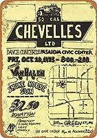 Chevellesメタルウォールサインレトロプラークポスターヴィンテージ鉄シート絵画装飾ぶら下げアートワーク工芸カフェビールバー12×16インチ