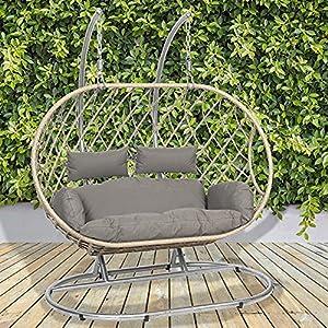 GardenCo Milan 2 Seat Hanging Egg Swing Chair
