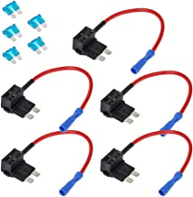 E Support 12V 24V Standard Add A Circuit Fuse Tap Piggy Back Blade Holder Plug Socket Car Pack of 5