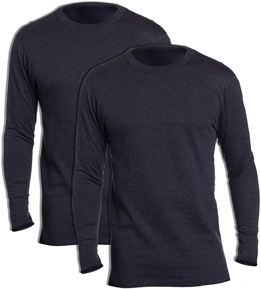 Duofold KMW1 Men's Midweight Thermal Crew Navy (Pack of 2)