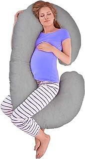 Maternity Pillow for Pregnant Women Sleeping 75 145cm Fuller Cotton C Shaped 2.5kg MINGPINHUIUS Pregnancy Body Pillow with Pillowcase C Shaped Cotton Pillowcase, Blue