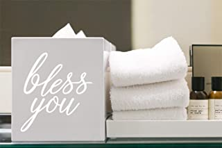 Story of Home LLC Bless You Tissue Box Sticker Tissue Box Sticker Wall Decal Vinyl Decal Vinyl Sticker Wall Sticker (Decal Only)