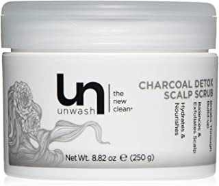 Unwash Charcoal Detox Scalp Shampoo, Paraben-Free, for Women and Men to Clear Pores, Remove Impurities - Powerful, Exfoliating Cleanser for Color-Treated, Fine, Thick Hair - Hydrating Hair Care Scrub