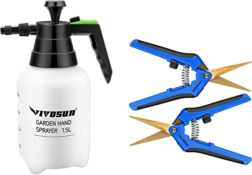 high quality VIVOSUN 2-Pack online Gardening Pruning Shear with Pressure Water outlet sale Sprayers outlet sale