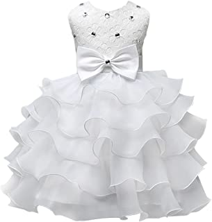 Girls Wedding Party Dress Pageant Baby Ruffles Tulle Princess Dresses