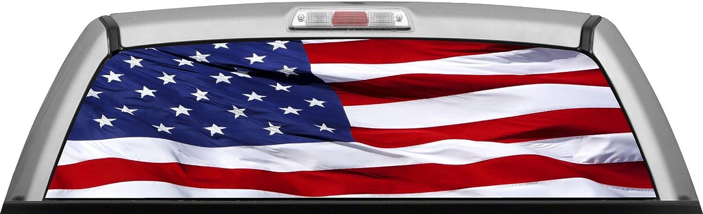 USA Spasm price American Flag 011 - Wave Window : Rear Car depot De SUV Truck WRAP