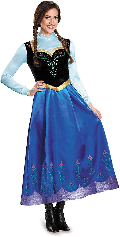 Frozen Traveling Anna Prestige Adult Fancy dress costume Medium