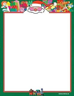 Christmas Stationery - Santa - 8.5 x 11-60 Fun Christmas Letterhead Sheets (Santa)