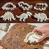 Moldes para hacer galletas con diseño de dinosaurios, juego de 3 piezas de moldes de PVC para decoración de chocolate, para fondant, galletas, Play Doh Arts