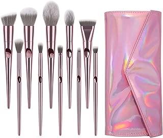 Winsummer 10 Pieces Makeup Brushes Sets Premium Makeup Brush Set Cosmetics Premium Synthetic Kabuki Foundation Blending Blush Concealer Eye Shadows Face Liquid Powder Kits with Leather Cosmetic Bag