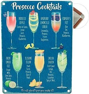 Cirkel Vintage Metalen bord (Prosecco Cocktails)