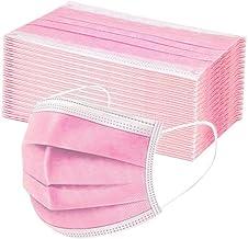 TEGT 50 stuks wegwerp-mondbescherming, uniseks, gezichtsbescherming, neusbescherming, zijde, ademend, antibacterieel, zonw...