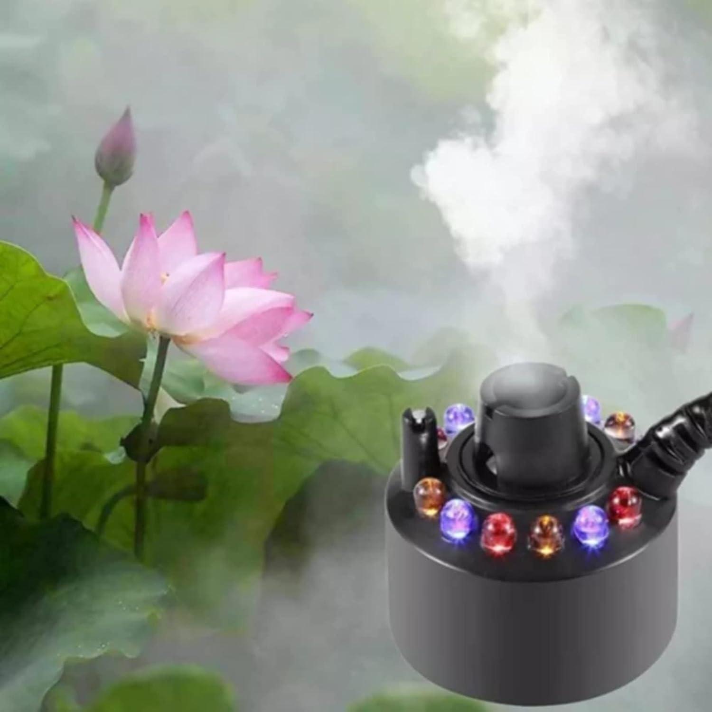 LEMORTH Humidificador de aire: fabricante de niebla de niebla, niebla de niebla, cambio de máquina de niebla 12 DIRIGIÓ LUCESA MIST MAVER, FOUNTAIN DE AGUA MÁQUINA DE MÁQUINA DE MÁQUINA DE ATOMIERO HU