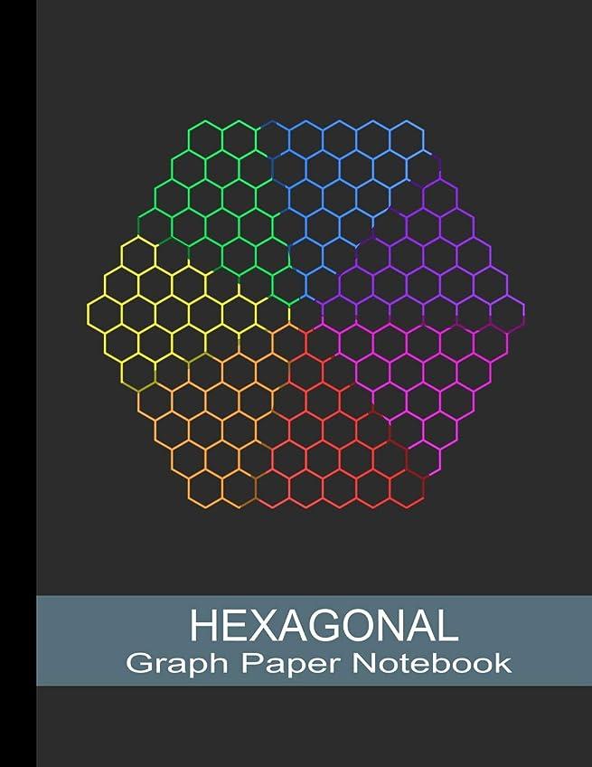 インシュレータドラゴン落ち込んでいるHexagonal Graph Paper Notebook: Hexagon Sience Graph Paper Composition Book For Organic Chemistry And Biochemistry