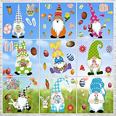 9 Sheet Easter Window Clings Stickers, Easter D...