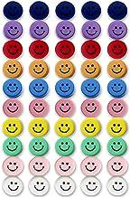 Qualsen Office Magnets 50 Pack, Heavy Duty Round Refrigerator Whiteboard locker Magnets (Smile)