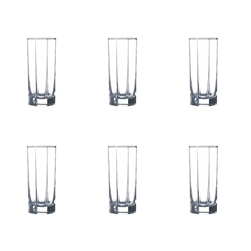 Luminarc Octime Highball Tumbler Set, 320ml, Set of 6, Transparent