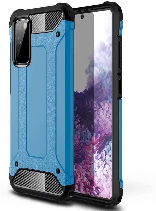 جراب TenDll لهاتف Samsung Galaxy F12، جراب متين بالكامل مصنوع من مادة TPU + PC، متين، مزود بأربعة زوايا سميكة، غطاء لهاتف Samsung Galaxy F12 (أزرق داكن)