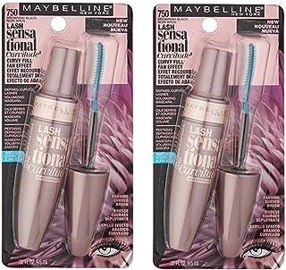 Pack of 2 Maybelline New York Lash Sensational Curvitude Mascara, Brownish Black 750 (Waterproof)