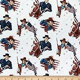 Riley Blake John Wayne Americana Main Cream Quilt Fabric By The Yard