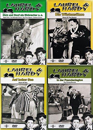 Laurel & Hardy - Collection 1 | In der Fremdenlegion | Als Einbrecher | Die Wüstensöhne | Auf hoher See [4er DVD-Set]