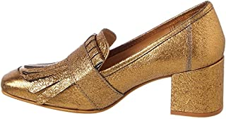Kenneth Cole New York Womens Macey Leather Square Toe Classic, Gold, Size 6.0