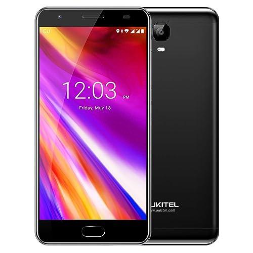 "Unlocked Cell Phones, Oukitel OK6000 Plus 6080mAh Big Battery Smartphone 5.5"" Full HD Dual SIM Android 7.0 Octa Core 4GB RAM 64GB ROM Mobile Phone 12V/2A Quick Charge Fingerprint OTG-Black"