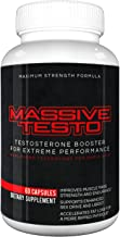Massive Testo - Maximum Strength Testosterone Boost for huge muscles, decreased body fat, faster recovery times, better athletic performance, improved focus and concentration
