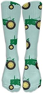 shenguang, Calcetines de tractor verde de diseño único unisex 78% algodón / 20% nailon / 2% spandex