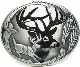 MASOP American Indians Cool Animal Elk Deer Oval Belt Buckle Men Christmas Gift