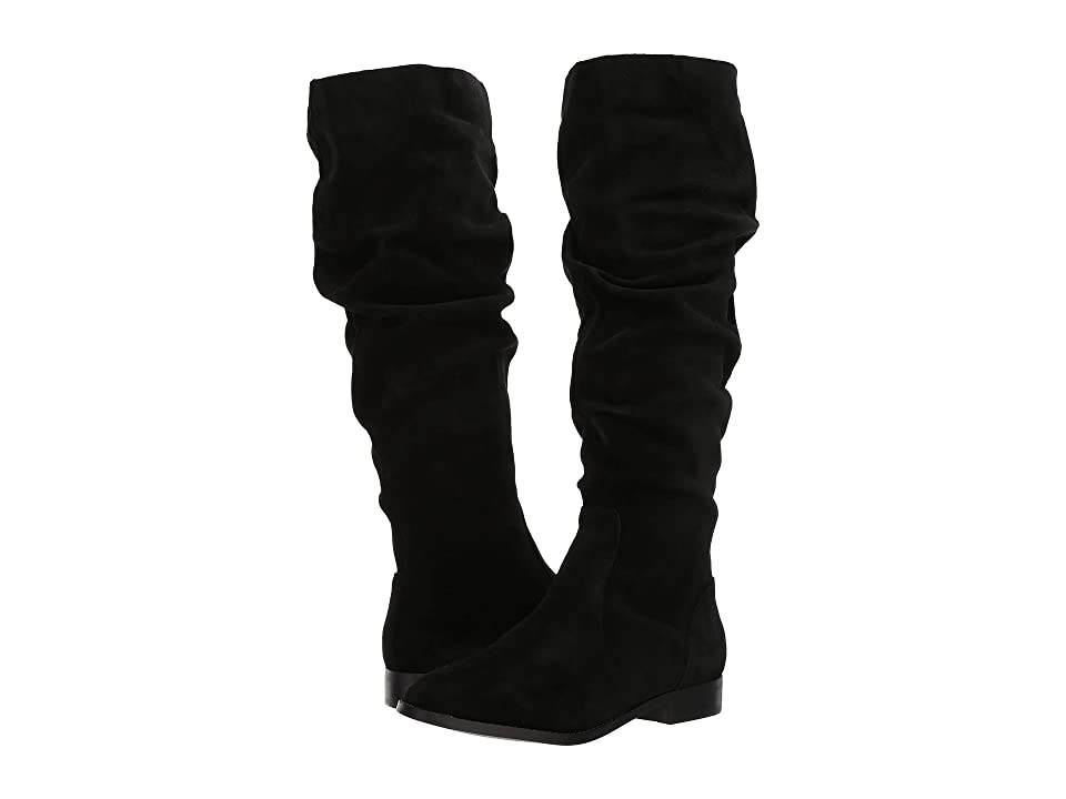 Steve Madden Beacon Slouch Boot (Black Suede) Women