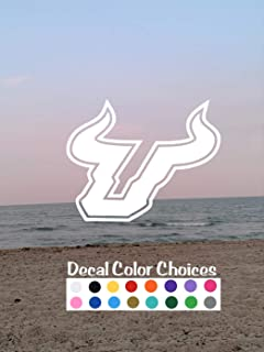 2 Pack | USF Vinyl Decal Stickers - Perfect for cars, computers, Yetis, tumblers, windows and most smooth surfaces