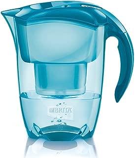 BRITA ブリタ 浄水 ポット 1.4L エレマリス Cool ブリタメーター ティールブルー ポット型 浄水器 カートリッジ 1個付 スリム ハイグレード [日本仕様/正規品]