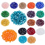 LONGWIN Lot 1800pcs Glass Bicone Beads Wholesale 4mm Bicone Shaped Crystal Faceted Beads Jewelry Making Supply for DIY Beading Projects, Bracelets, Necklaces, Earrings & Other Jewelries (Color 2)