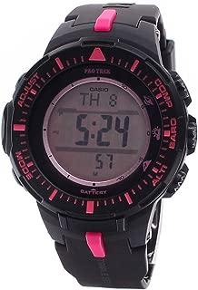 Casio Men's PRG300-1A4DR Pro Trek Triple Sensor Tough Solar Digital Display Quartz Black Watch …