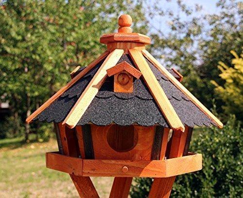 Vogelhaus, Vogelhäuser mit und ohne Ständer behandelt Typ 23 (Schwarz, ohne Ständer)