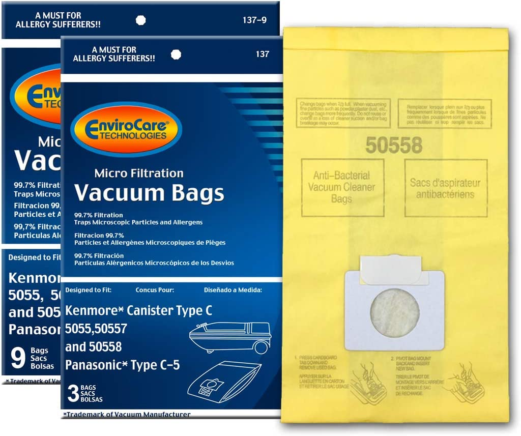 EnviroCare Replacement Vacuum Bags for Type High material Kenmore Canister C o Now on sale