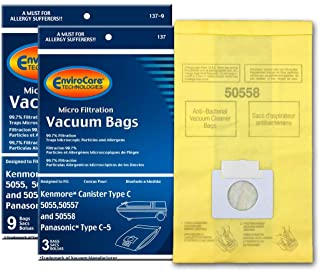 Best EnviroCare Replacement Vacuum Bags for Kenmore Canister Type C or Q 50555, 50558, 50557 and Panasonic Type C-5 12 pack Review