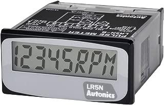 AUTONICS LR5N-B Meter, Pulse, LCD, Indicator, 1/32 DIN, 5-Digit, No-Voltage Input, Internal Battery