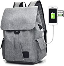 Oxford Backpack USB Charger Large Travel Laptop School Bag for Men Women Student
