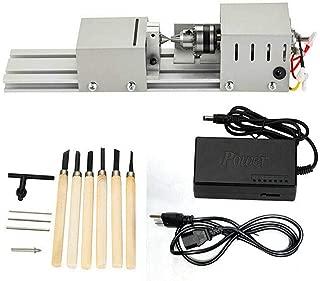 HOTSTORE Mini Lathe Beads Polisher Machine DIY Woodworking Polishing Machine Tool for Handiwork Craft DC 24V 80W