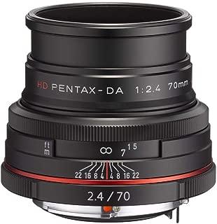 Pentax K-Mount HD DA 70mm f/2.4 70-70mm Fixed Lens for Pentax KAF Cameras (Limited Black)