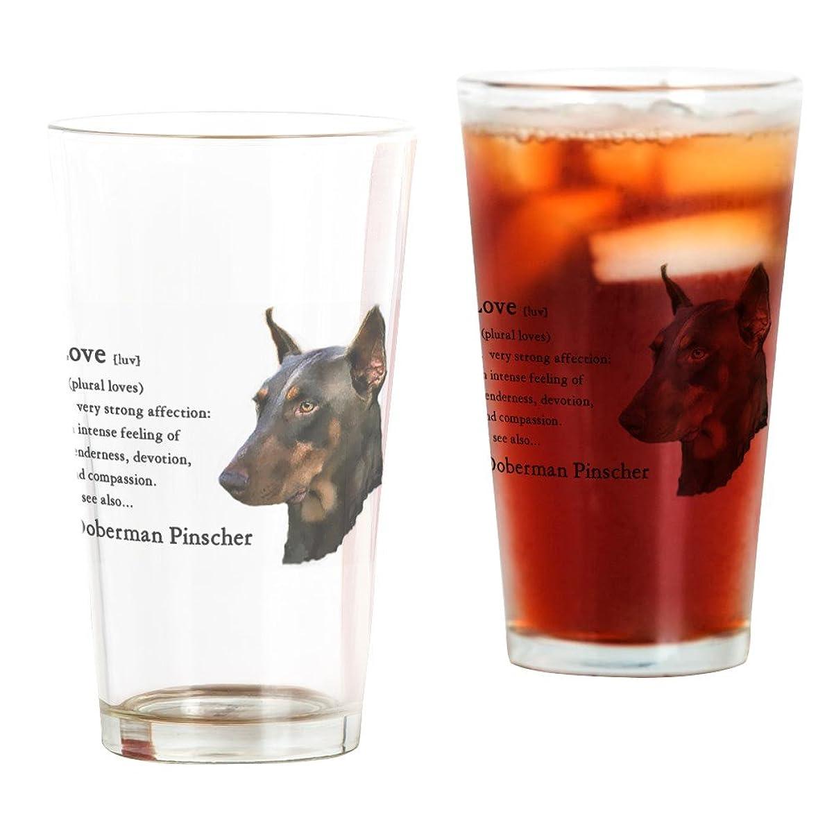 以上熱望する薬CafePress?–?Doberman PinscherギフトPint Glass?–?パイントガラス、16オンスDrinkingガラス クリア 054794766233332
