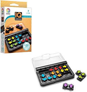 SmartGames IQ Arrows - a Skill-Building Travel Game w/ Portable Case Featuring 120 Challenges for Ages 7 - Adult